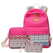 twister dot 3 aliexpress com buy 3 pcs set canvas printing backpack women