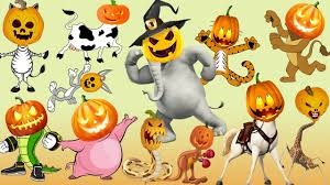 pics of happy halloween happy halloween wild animals learn names with cartoon u0026 real for