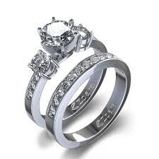 set diamond 2 3 ctw channel set diamond wedding set in 14k white gold