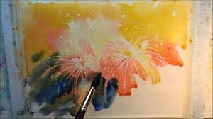 how to paint fireworks part 1 youtube
