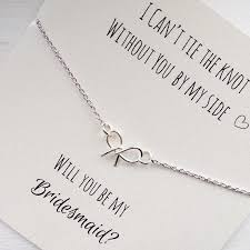 knot tie necklace images Free shipping will you be my bridesmaid tie the knot necklace jpg