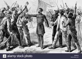 bureau union 1800s 1860s freedmen s bureau union officer settling angry dispute