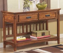 Sofa Tables With Drawers by Chicago Furniture Stores For Mission Style Sofa Console Table