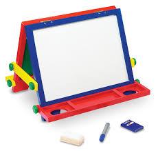 amazon com melissa u0026 doug wooden magnetic tabletop art easel