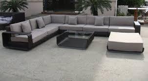 canape resine exterieur ensemble extérieur de meubles de sofa de rotin canapé lit en forme