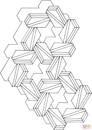 optical illusion 17 coloring page free printable coloring pages