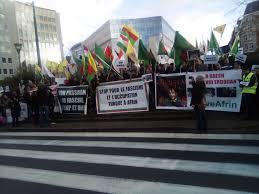 si e social bruxelles i curdi protestano a bruxelles fermate erdogan è in atto un
