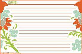 help me find clean and modern recipe card templates kitchn