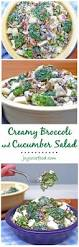 Creamy Pasta Salad Recipes Creamy Broccoli And Cucumber Salad Joy Love Food