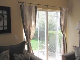 patio door curtain rods with sliding door system and paito chair ideas