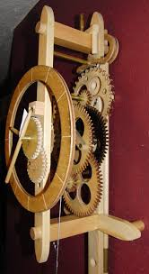 alan s wooden gear clock page