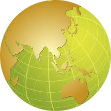 asia globe map map of asia on globe stock vector illustration of circle 6041767