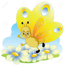 smiling butterfly clipart collection