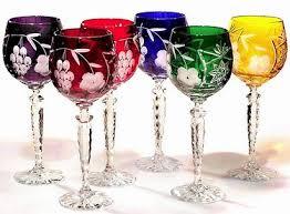 Colored Crystal Vases Crystal Gifts Colored Crystal Wine Goblets Stemware Vases