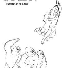 young tarzan family coloring pages hellokids