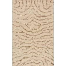 Brown Zebra Area Rug Nuloom Tufted Plush Zebra Area Rug Or Runner Brown Plush
