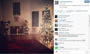 brown s christmas tree chris brown and karrueche complain about being without each