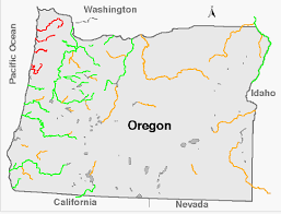 Oregon rivers images Oregon levels png