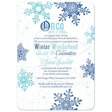 winter sweet 16 invitation once upon a time tale
