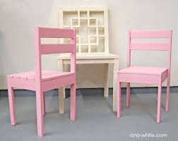White Desk And Chair Ana White Four Dollar Stackable Children U0027s Chairs Diy Projects