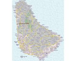 Michigan Map With Cities by Maps Of Barbados Detailed Map Of Barbados In English Tourist