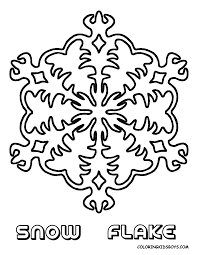 snowmen and snowflakes coloring pages