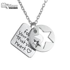 inspirational charms my shape follow your trust your heart magen of david
