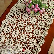 ikea table runners tablecloths free shipping crochet flowers lace tablecloth beige square flower