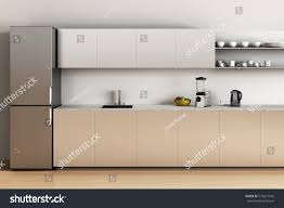 office kitchen furniture office kitchen wooden floor refrigerator sink stock illustration