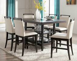 glass counter height table sets the new bar height round dining table household decor glass wood