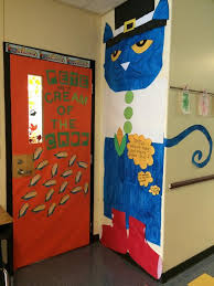 cayla crunkleton on our pete the cat thanksgiving door