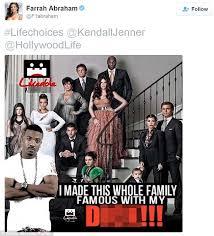 Meme Sextape - farrah abraham slams kardashians on twitter after kendall jenner
