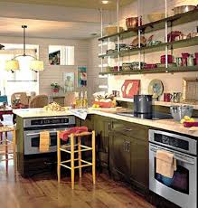 ideas for kitchen shelves retro modern kitchen decorating ideas open kitchen shelves for