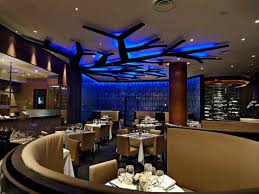 interesting restaurant interior design ideas with brown square