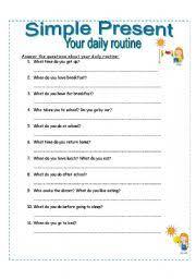 english teaching worksheets simple present