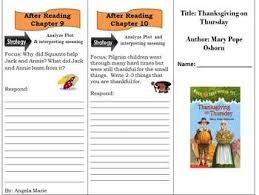 comprehension trifold thanksgiving on thursday magic tree house