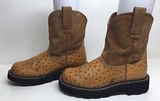 ariat fatbaby boots womens cowboy cognac ostrich 10000821