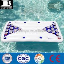floating table for pool inflatable beer pong table float custom floating pool party game