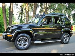 jeep liberty 2003 4x4 2003 jeep liberty renegade 4x4 5 speed manual moon roof for sale