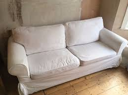 Two Seater Sofa Bed White Ikea Ektorp Two Seater Sofa Bed In Southville Bristol