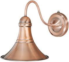 Copper Wall Sconce Lights Vaxcel T0036 Vesper Vintage Copper Finish 11 25