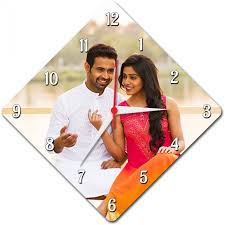 Personalized Clocks With Pictures Buy Or Send Diamond Shaped Wall Clock Personalized With Photo And