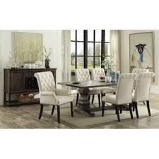 dining room table white farmhouse dining tables birch lane