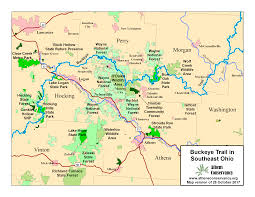 Shawnee Map Athens Area Outdoor Recreation Guide Bencad Trail