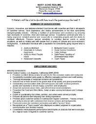 waiter resume sample waitress resume sample skills bartender resume no experience