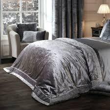 velvet fullqueen duvet cover in black elegance glamour silver