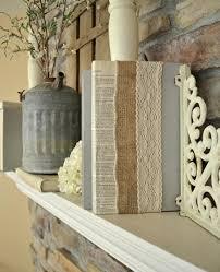 lace and burlap covered books diy decor diyideacenter com