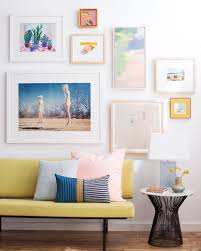 how to choose frame and hang an art collection emily henderson