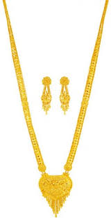 gold haram sets 22kt gold necklace set ajns63294 22kt gold necklace and