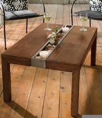 steel and wood table furniture fashionsolid ash wood table with stainless channel tray